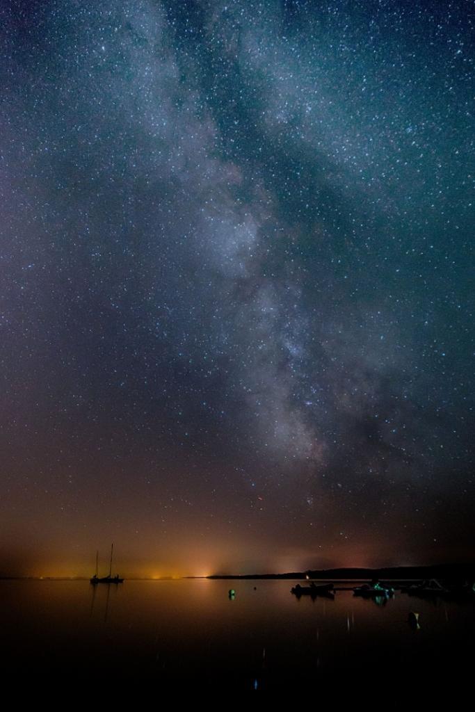 La voix Lactée sur le lac d'Hourtin prise par Thierry en vacances dans la région