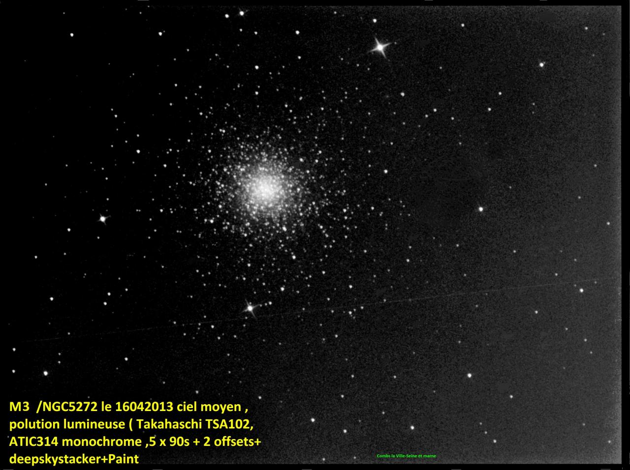 M3  NGC 5272  Constellation du Bouvier