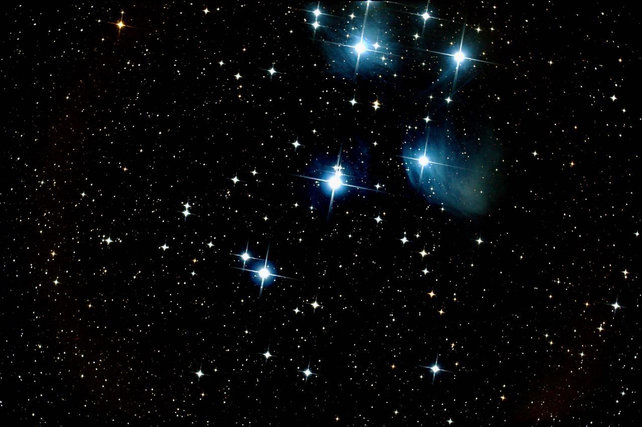 M45 les Pleiades Montalivet le 30/10/2013