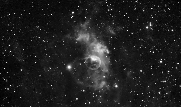 NGC7635 nébuleuse de la bulle distance 11000AL