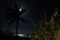clair de lune sur le lagon de bora bora
