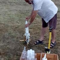 Préparatif pour le lancement de la fusée (Gérald août 2020)