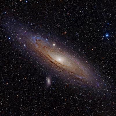 A observer dans son télescope ce mois ci la galaxie d'Andromède notre voisine