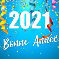Carte bonne annee 2021 confettis 123cartes