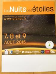 NUITS DES ETOILES 2015