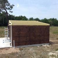 Préparation du toit pour recevoir la couverture