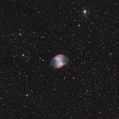 M27 nébuleuse de la pomme par Thierry septembre 2020 APN 55poses de 50s +SIRIL