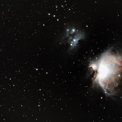 M42 nébuleuse d'Orion le 19 janvier 2020 taka fsq85 ED canon 1300D filtre astrodon 2 heures de poses
