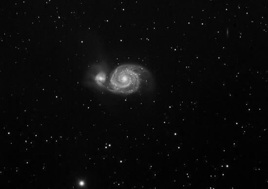 Galaxie du Tourbillon M51 aprés traitement sur Pixsinsight