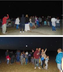 Nuits des étoiles 2015 Vendays-Montalivet environ 250 spectateurs