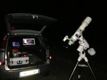 Nocturne au club d'astronomie médocain